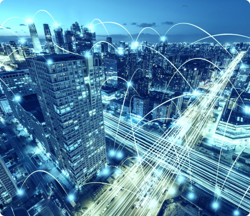 data transfer showing on buildings image